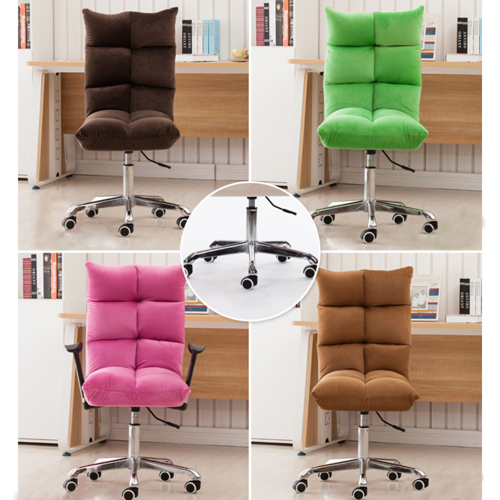 Personalized Velvet Chair With Chrome Base Image 20