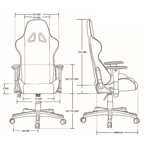 Classic High-Back Gaming Chair Image 16