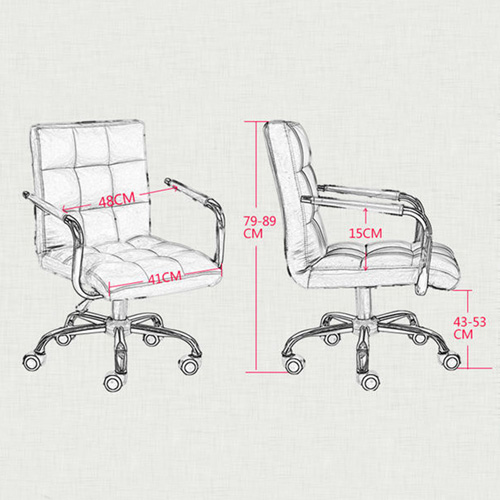 Fabric Swivel Office Chair Image 18