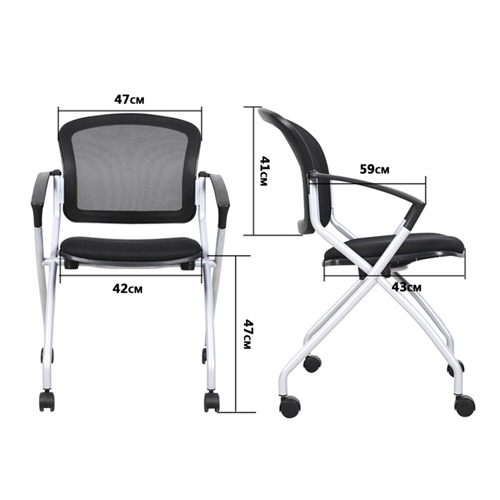 Mesh Back Stackable Training Chair Image 20