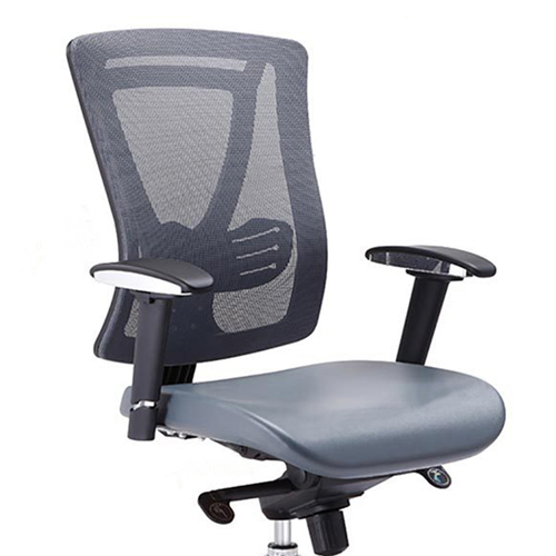 Deluxe Mesh Office Chair With PU Cushion Image 4