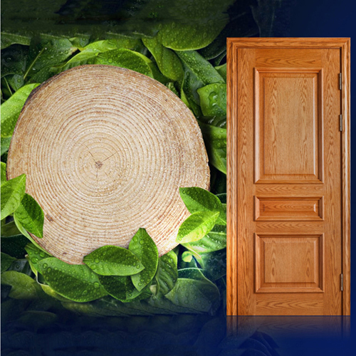 Carved Solid Wood Composite Door