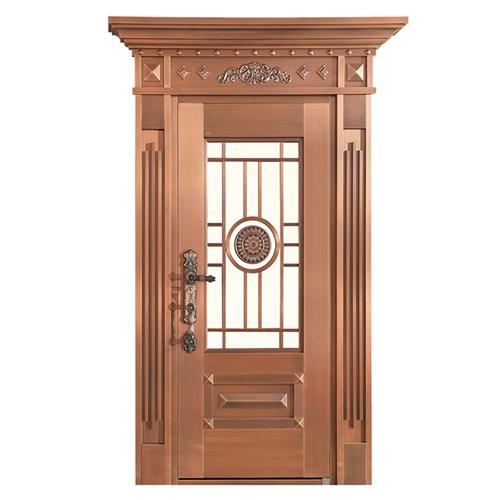 Wrought Exterior Copper Entry Door