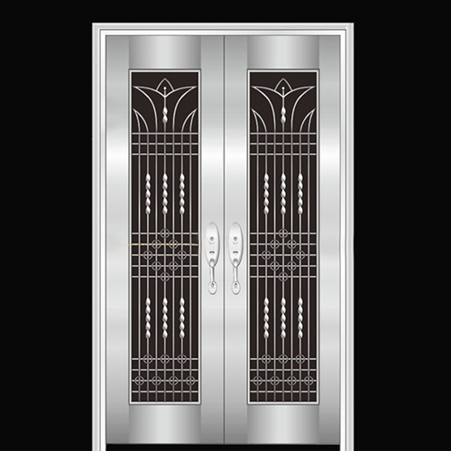Double Stainless Steel Exterior Door