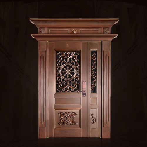 Crafted Entrance Copper Door