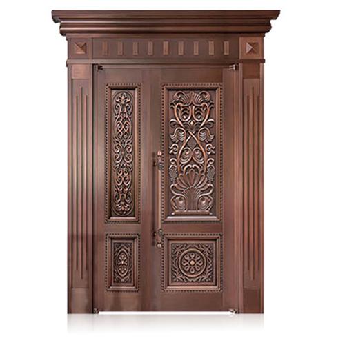 Unequal Double Copper Exterior Door
