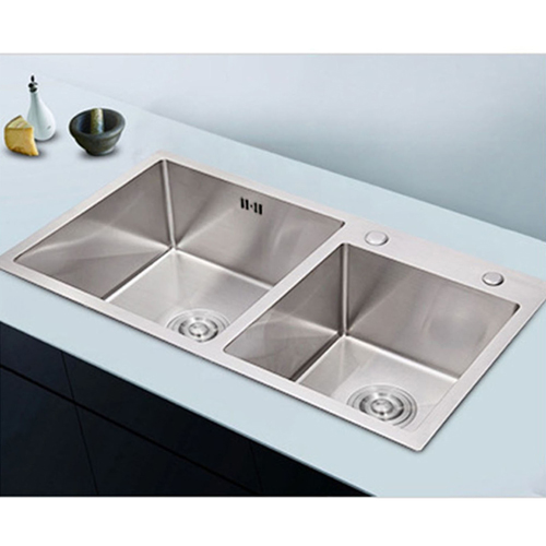 Top Mount Double Slot Stainless Steel Sink