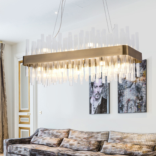 Rectangle Claire Chandelier