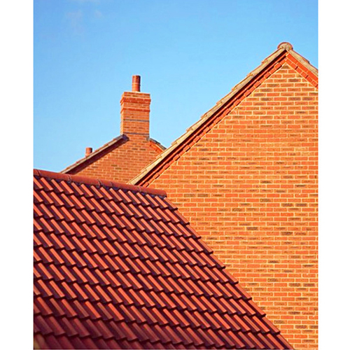 Rose Three Curved Ceramic Roof Tile