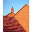 Rose Three Curved Ceramic Roof Tile