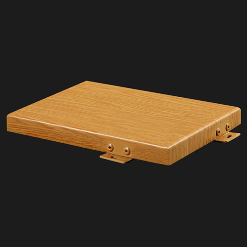 Imitation Wood Grain Aluminum Wall Plate