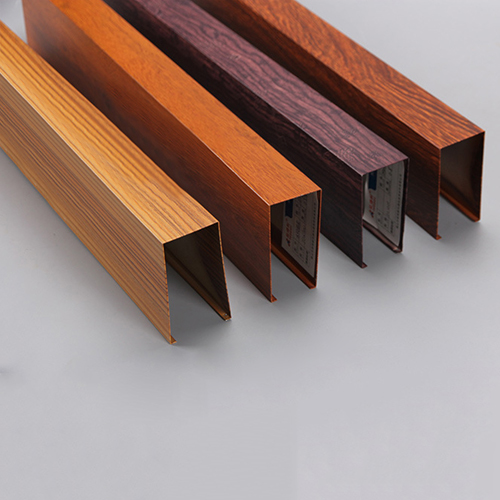 Square Integrated Wood Grain Ceiling
