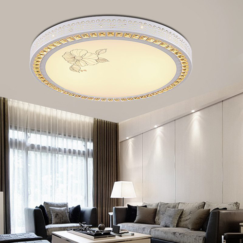 Woolen Round Dimming LED Ceiling Lamp