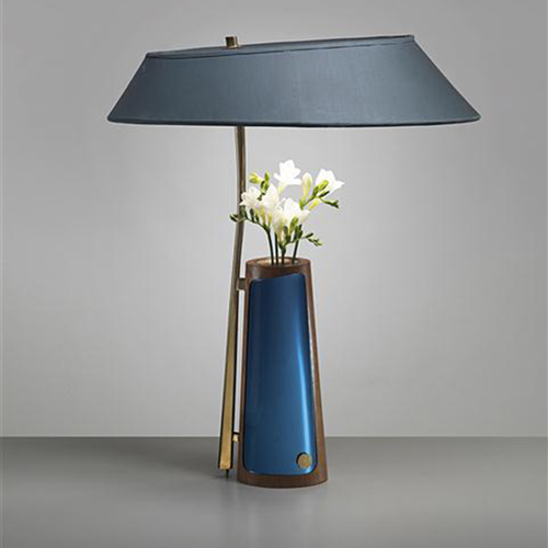 Fabric Lamp Shade Vase Table Lamp