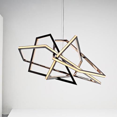 Mirror Polished Geometric Modern Light