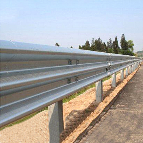 Three Wave Highway Collision Guardrail