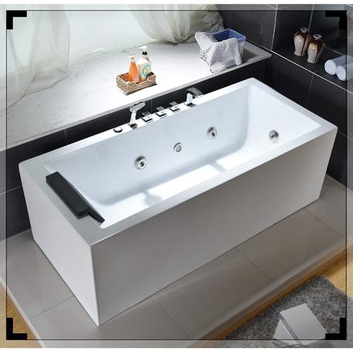 Seamless Whirlpool Hydro-Massage Bathtub