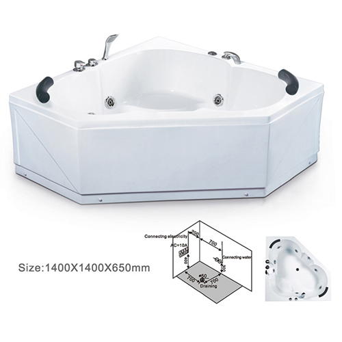 Corner Two Seater Reinforced Bathtub