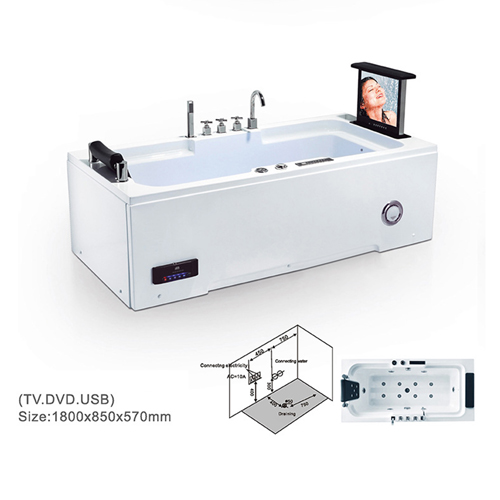 Jacke Acrylic Massage Bathtub with TV