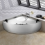 Alcove Corner Acrylic Massage Bathroom Tub