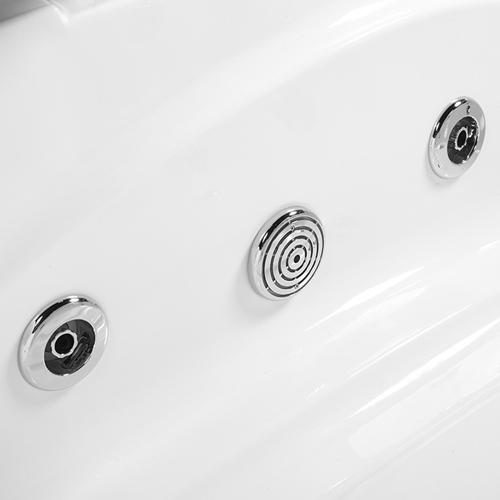Colour Light Corner Whirlpool Bathtub