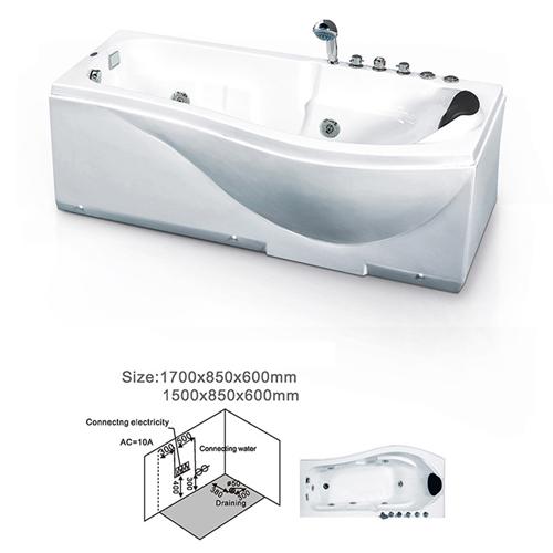 Cylinder Surfing Massage Bathtub