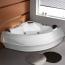 Deluxe Corner Whirlpool Bathtub