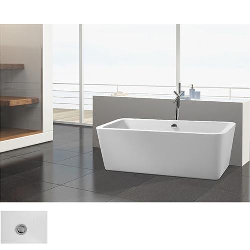Rectangle Wide Rim Freestanding Bathtub