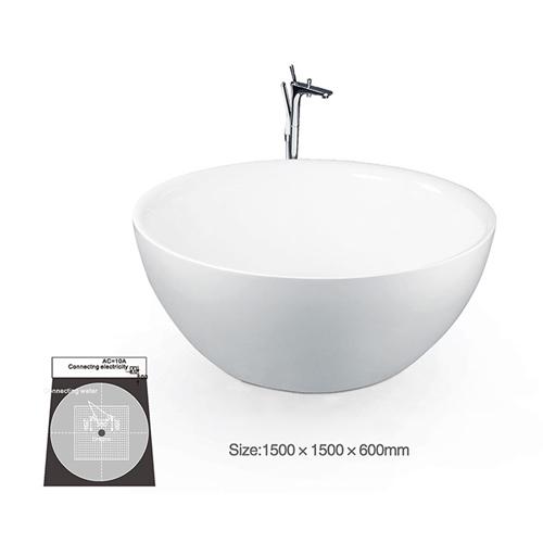 Round Shaped Freestanding Bathtub