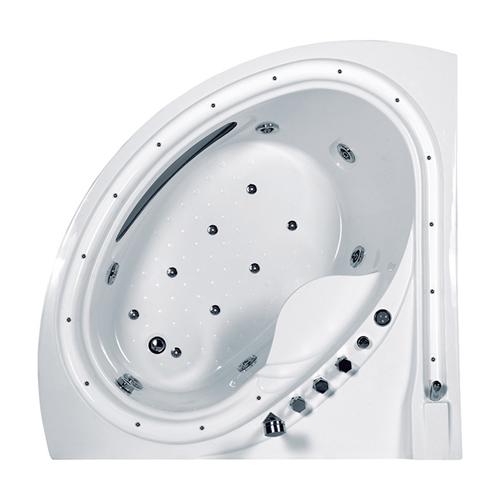 Corner Whirlpool Acrylic Bathtub
