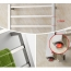 Square Stainless Steel Heated Towel Rail