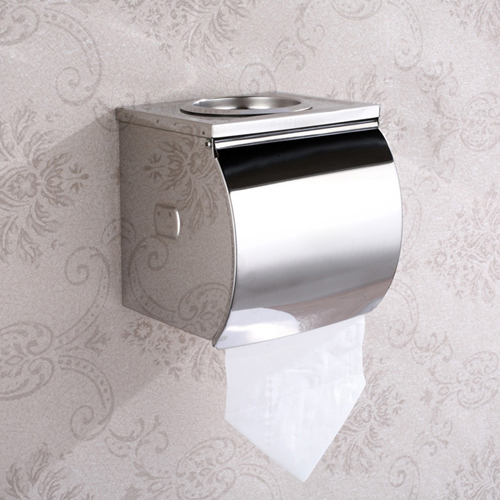 Chrome Toilet Paper Holder With Ashtray
