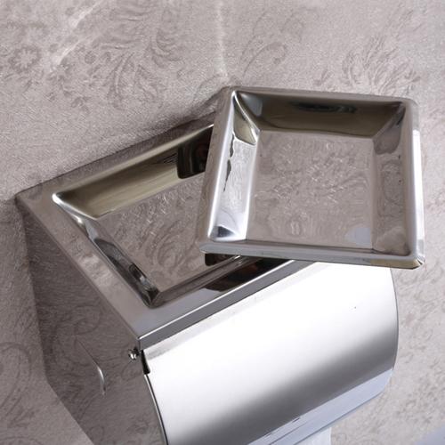 Flap Lid Toilet Paper Roll Holder