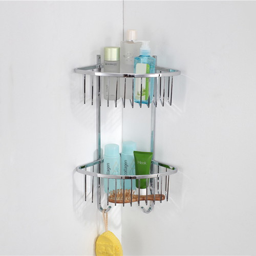 Double Corner Wire Bathroom Storage Rack