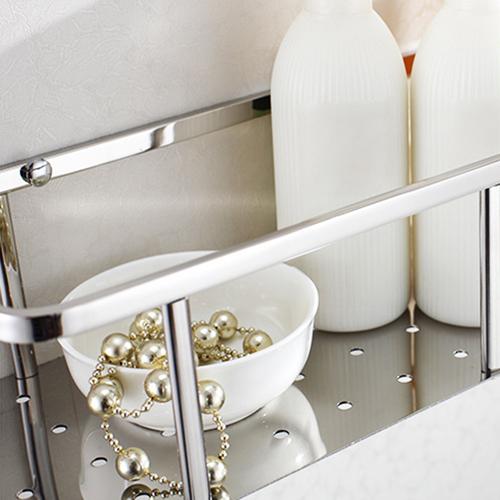Stainless Steel Bathroom Storage Shelf