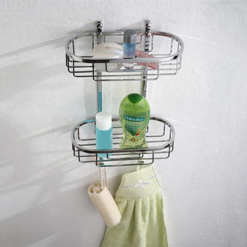 Bathroom Double Basket with Hook Line