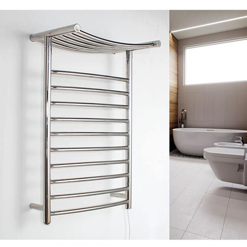 Chrome Electric Towel Rack with Heated Shelf