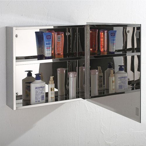 Lazza Stainless Steel Bathroom Mirror Cabinet