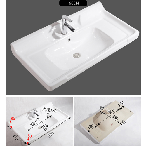 Square Ceramic Counter Basin