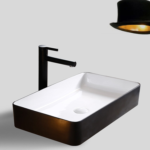 Ultra Thin Edge Rectangular Ceramic Washbasin