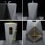 Diamond Ceramic Pedestal Wash Basin