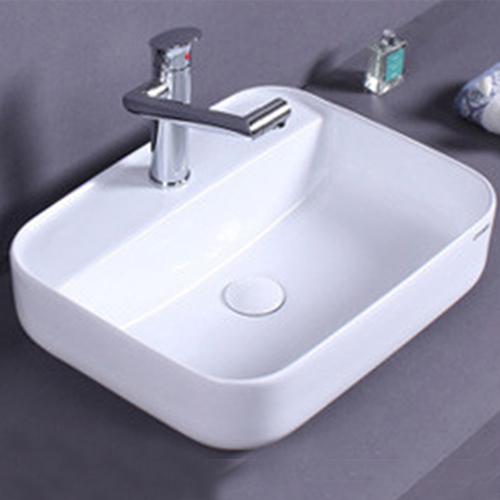 Ultra-Thin Square Ceramic Bathroom Sink