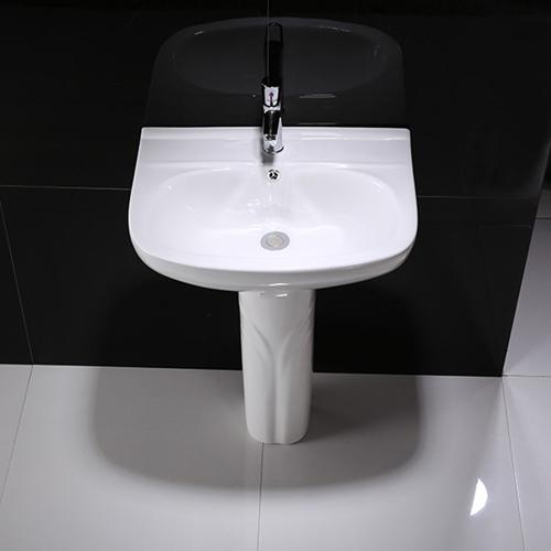 Floor-Standing Ceramic Pedestal Wash Basin