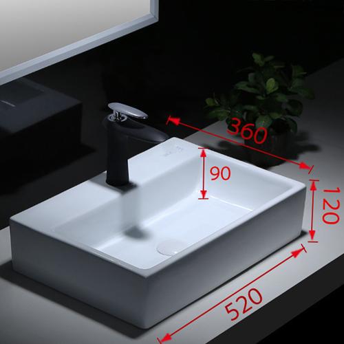 Square Evolution Ceramic Wash Basin