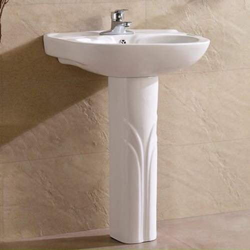 Floor-Standing Pedestal Ceramic Wash Basin