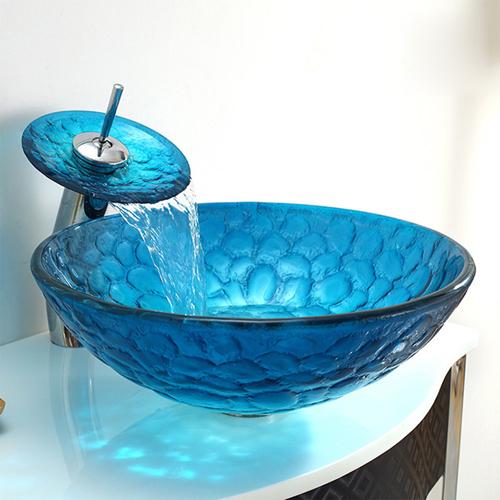 Bloom Round Tempered Glass Wash Basin
