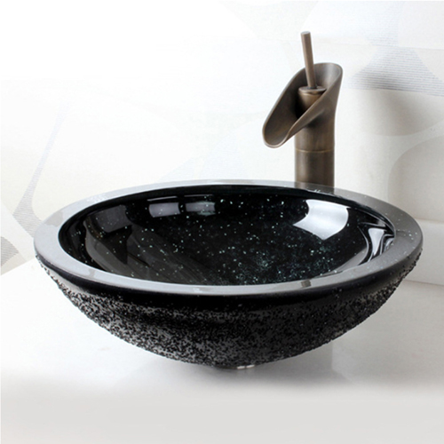 Durable Counter Top Glass Wash Basin