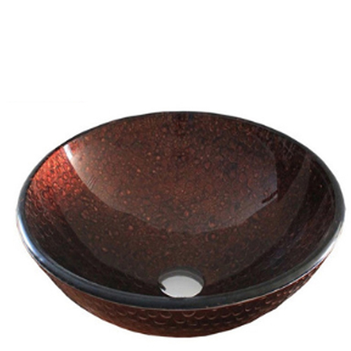 Round Tempered Glass Wash Basin