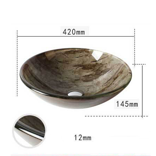 Toughened Tempered Glass Stage Basin