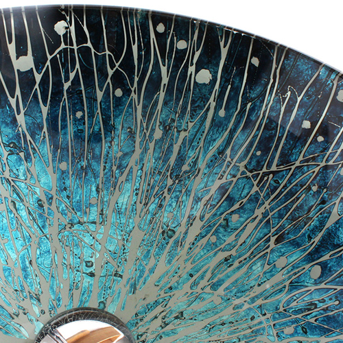 Round Bowl Hand Painted Glass Basin